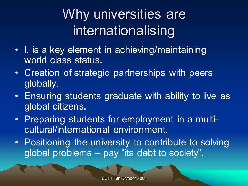 Why universities are internationalising
