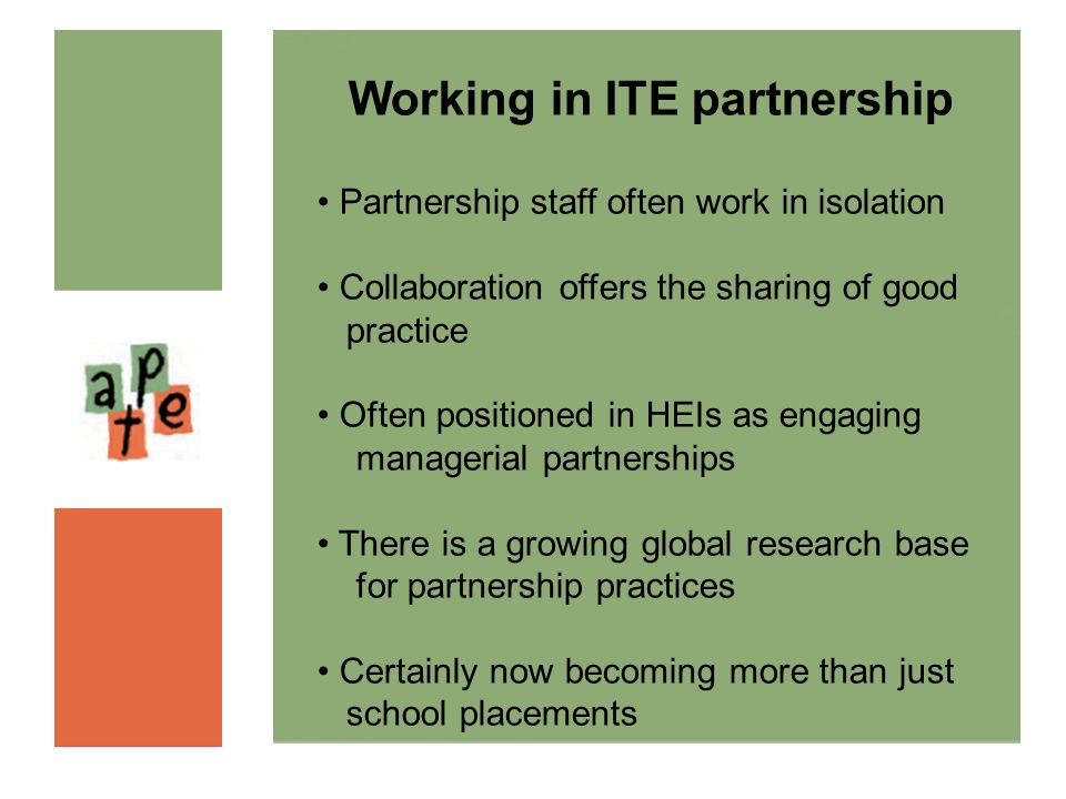 Working in ITE partnership