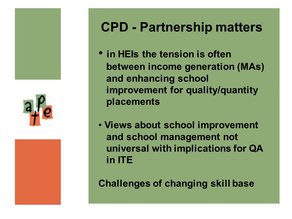 CPD - Partnership matters