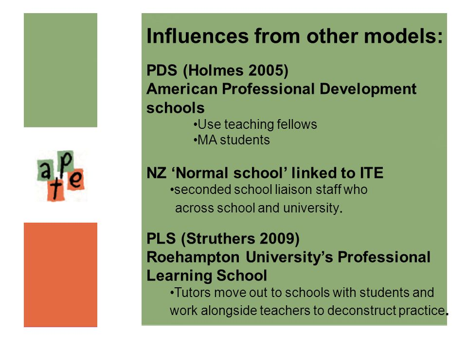 Influences from other models: