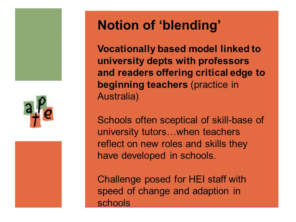 Notion of 'blending'