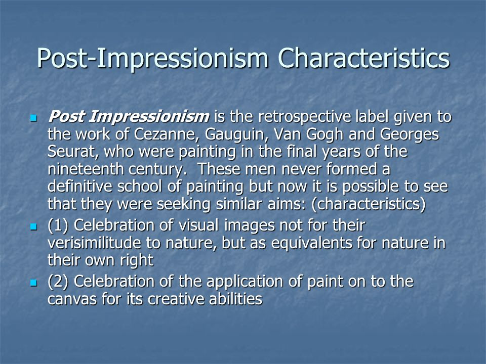 Impressionism Slide concept by Anthony F. D'Ascoli FOR ...