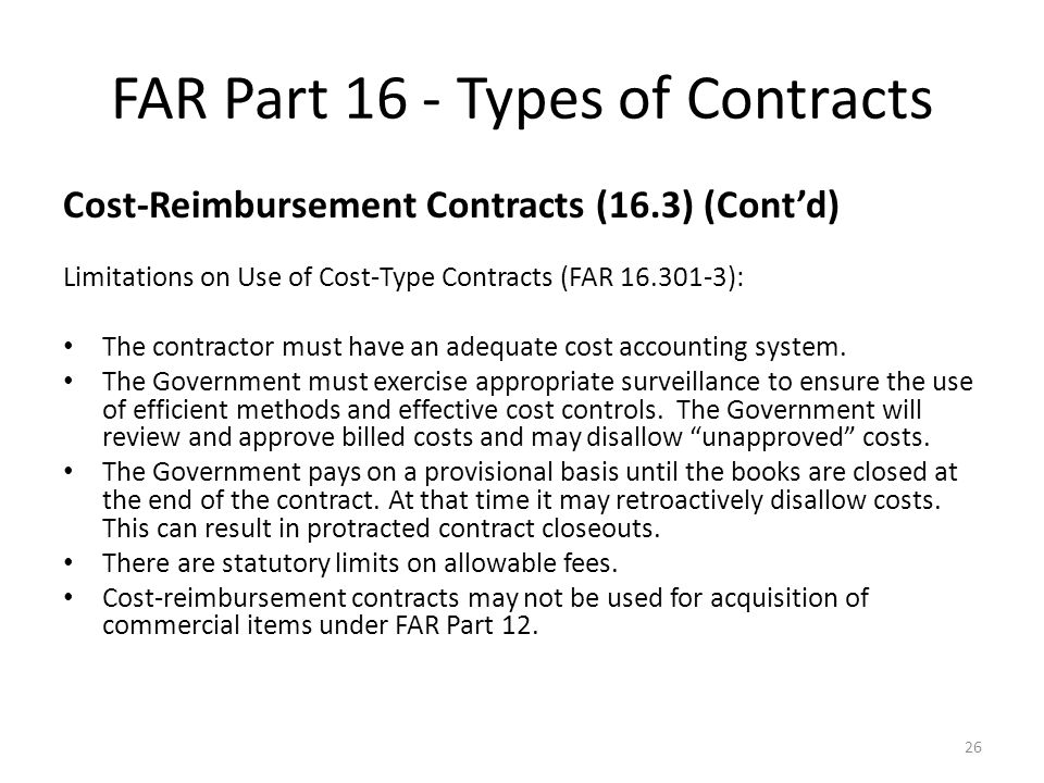 far cost sharing contracts 1516303-76 fee on cost-sharing contracts by  as well as any other requirements applicable to ntps or letter contracts contained in the far or.