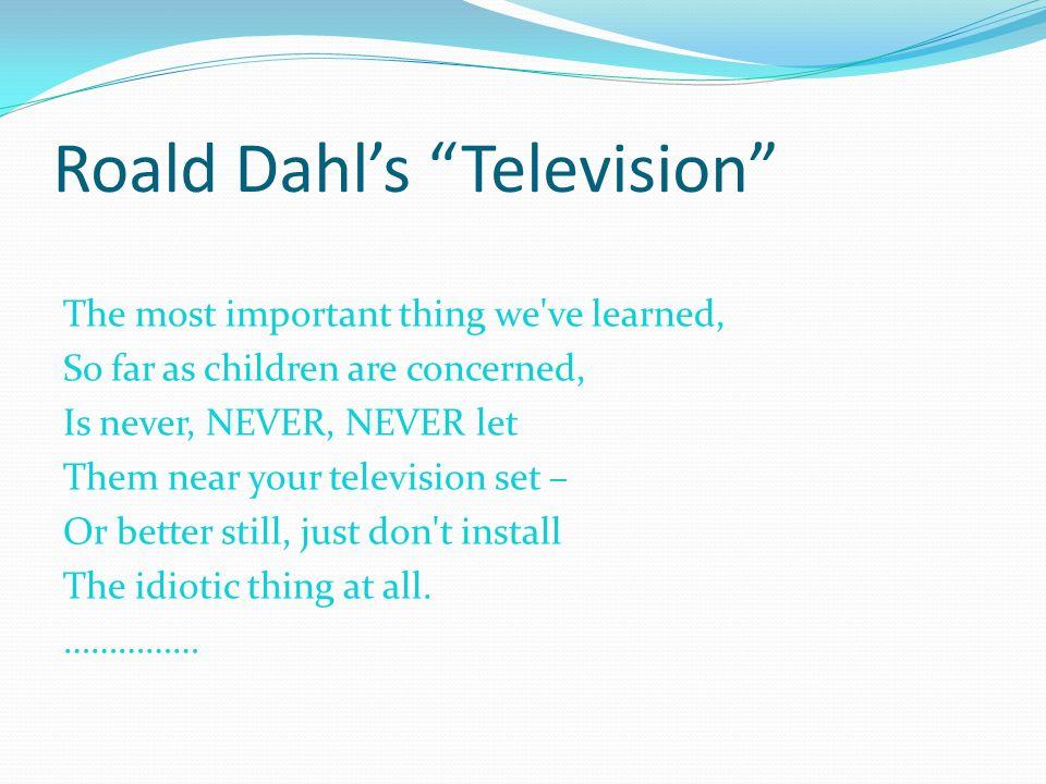 Citaten Roald Dahl : Television roald dahl fiori idea immagine