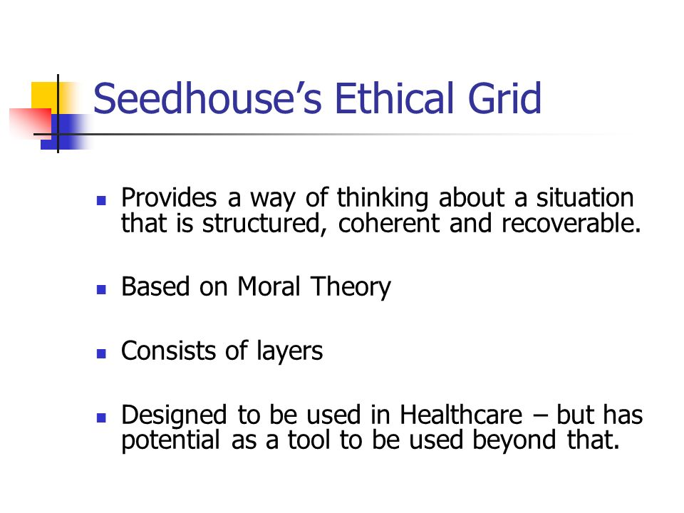 Seedhouse's Ethical Grid