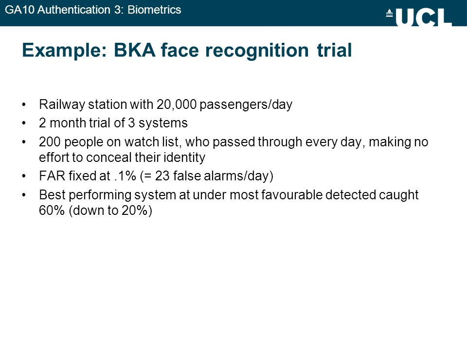 Example: BKA face recognition trial