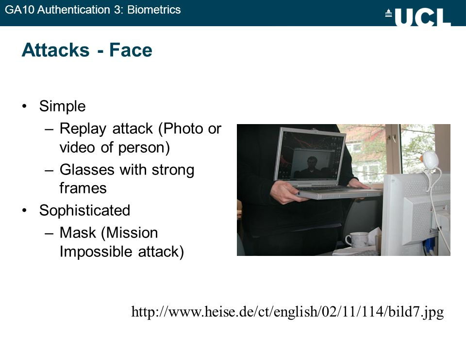Attacks - Face Simple Replay attack (Photo or video of person)