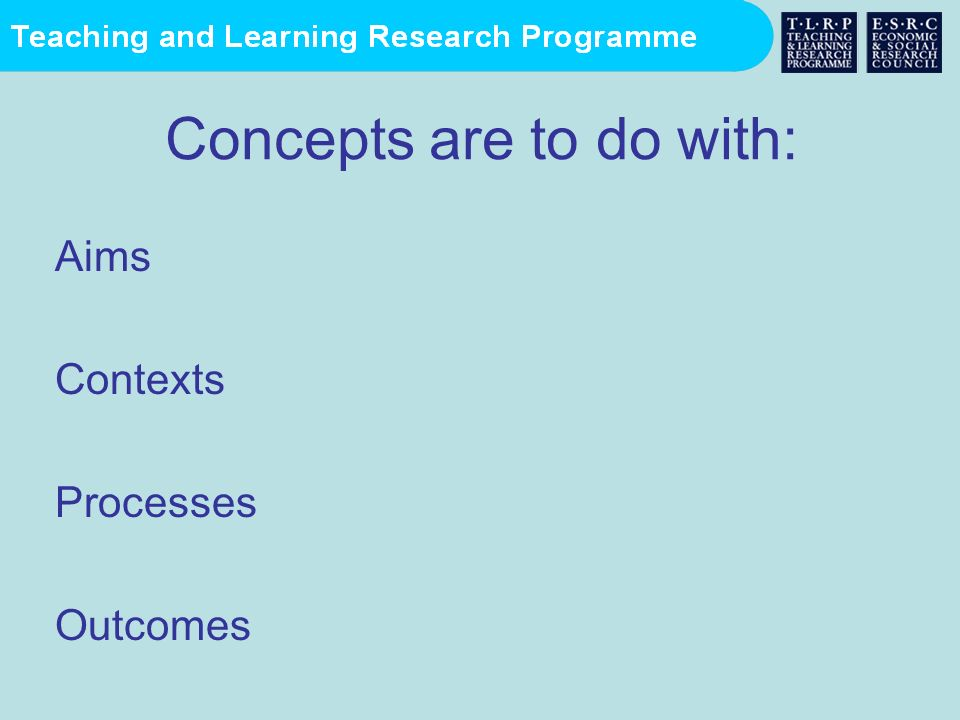 Concepts are to do with:
