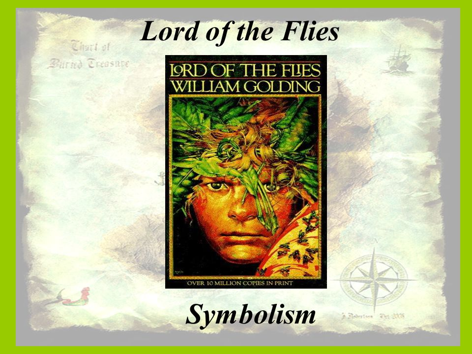 lord of the flies symbols In lord of the flies by william golding, he also uses symbols to represent deeper ideas let's take a look at some of those symbols, and see if we can pick them apart to discover what exactly william golding is trying to communicate with them.