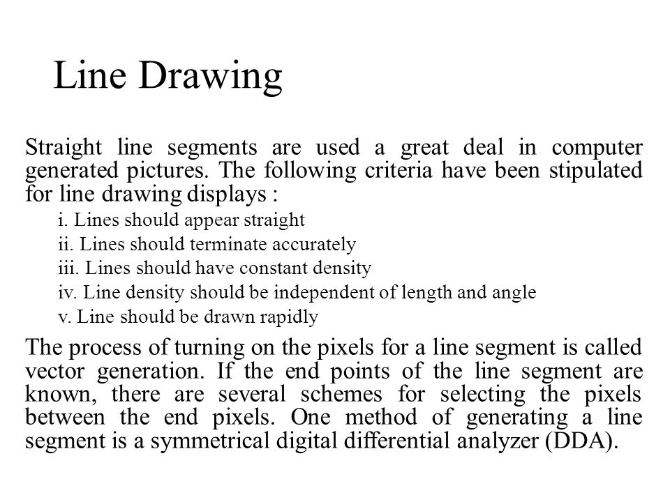 Digital Differential Analyzer Line Drawing Algorithm In Java : Me computer aided design ppt video online download