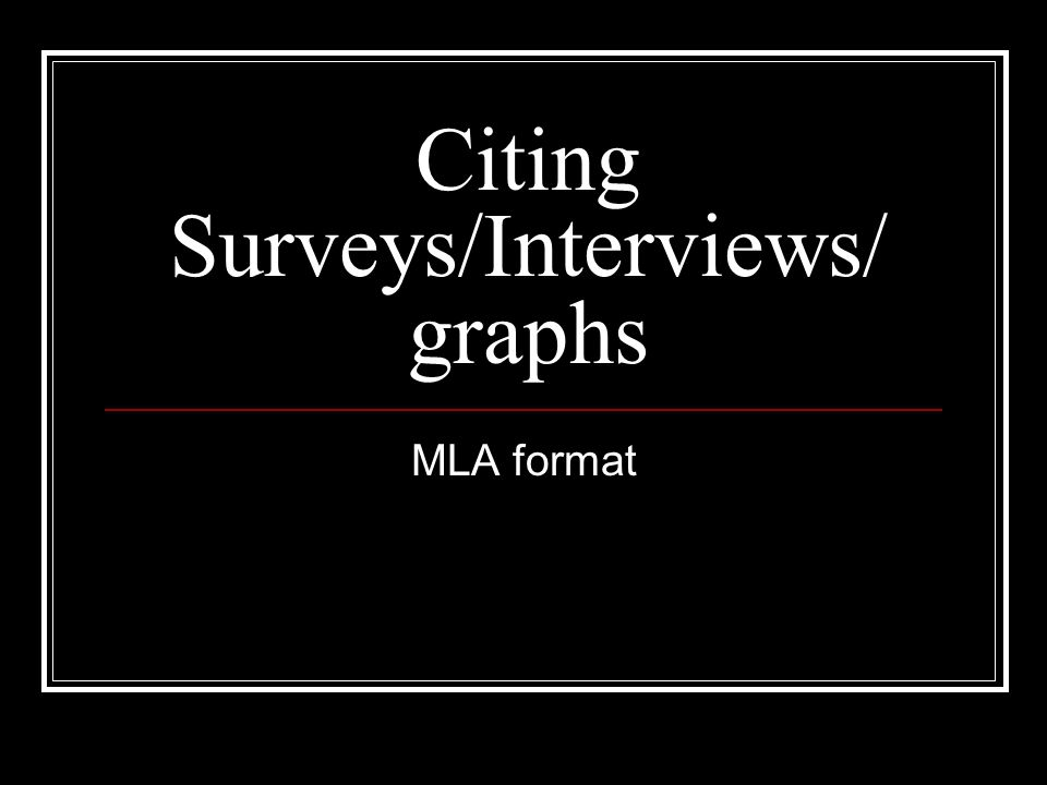 mla format citation for interview