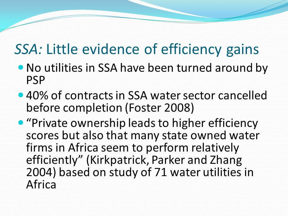 SSA: Little evidence of efficiency gains
