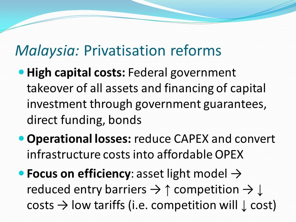 Malaysia: Privatisation reforms