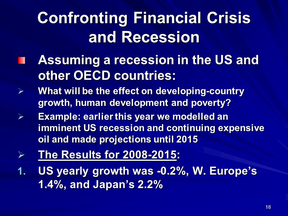 Confronting Financial Crisis and Recession