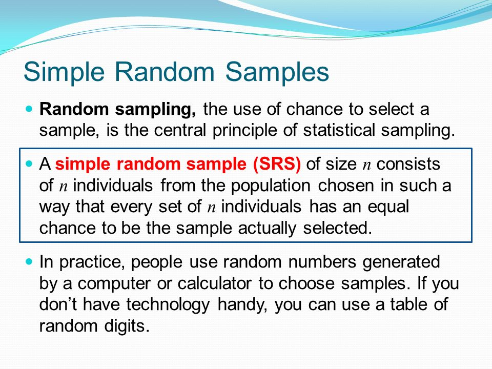 CHAPTER 8: Producing Data: Sampling - ppt download