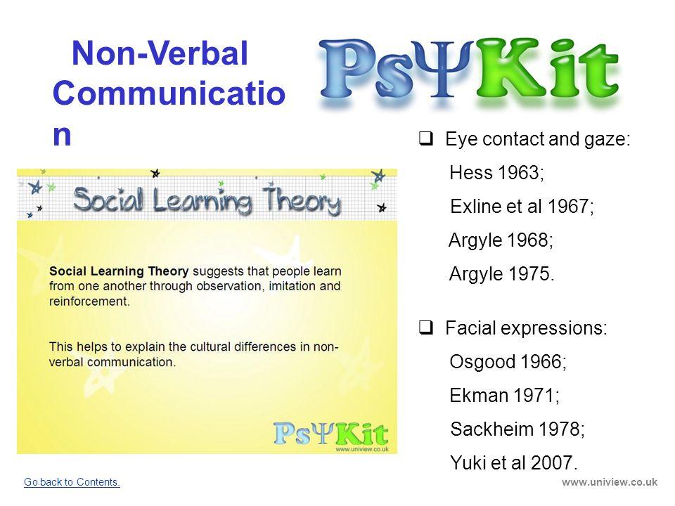 Non-Verbal Communication PsyKit