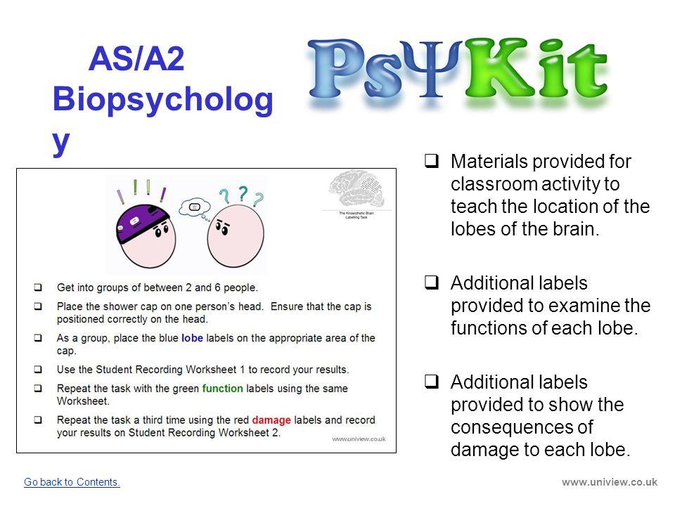 AS/A2 Biopsychology PsyKit