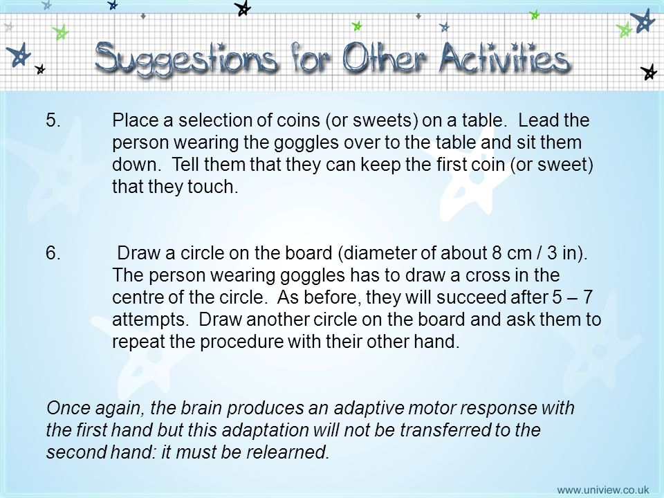 Suggestions for Other Activities 5 - 6