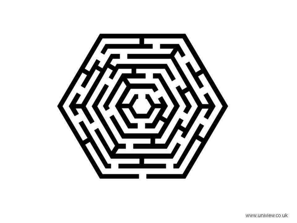 Printable maze www.uniview.co.uk