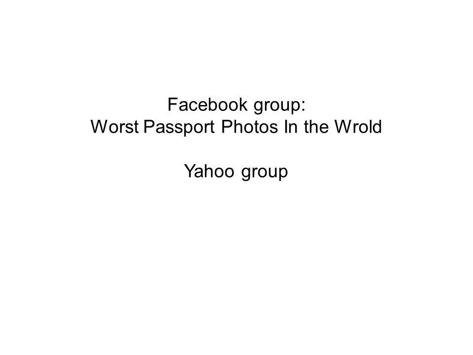 Worst Passport Photos In the Wrold