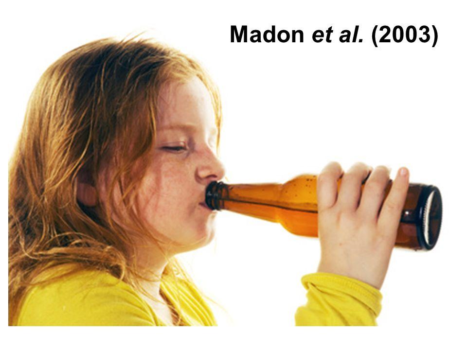 Madon et al. (2003) Underage drinking