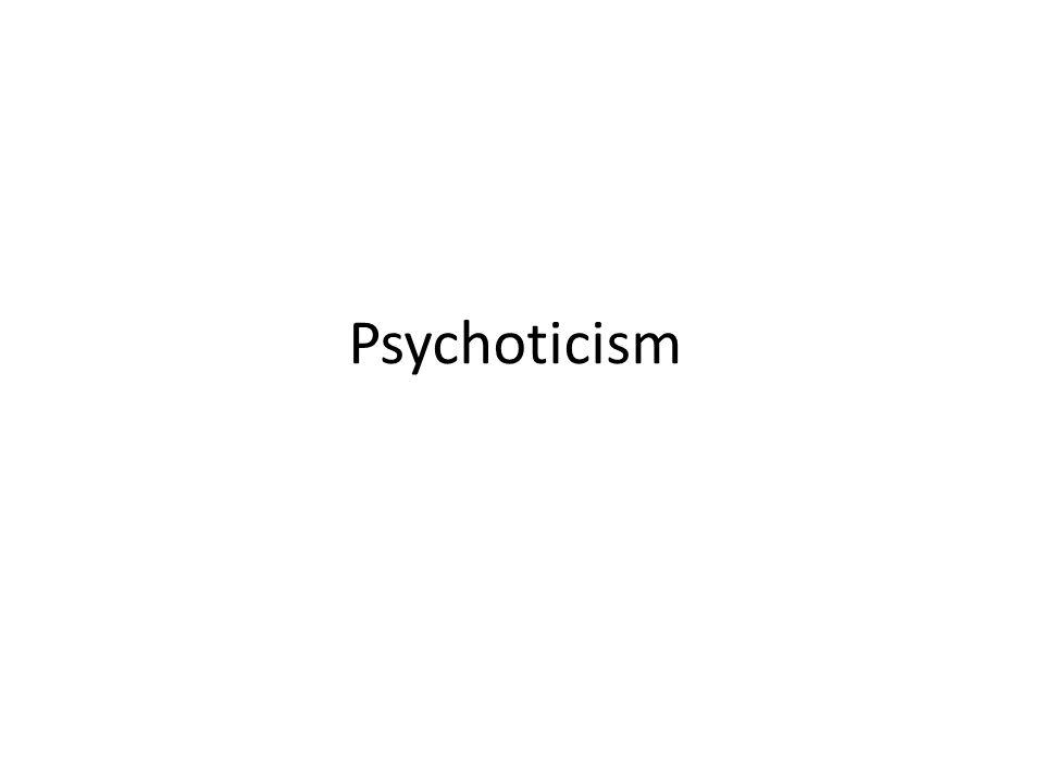 Psychoticism Card activity
