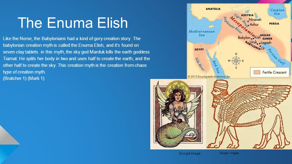 a comparison of genesis and the enuma elish creation story The differences are due to different interpretations of the basic material let's say   the first creation story of genesis follows enuma elish in its core elements.