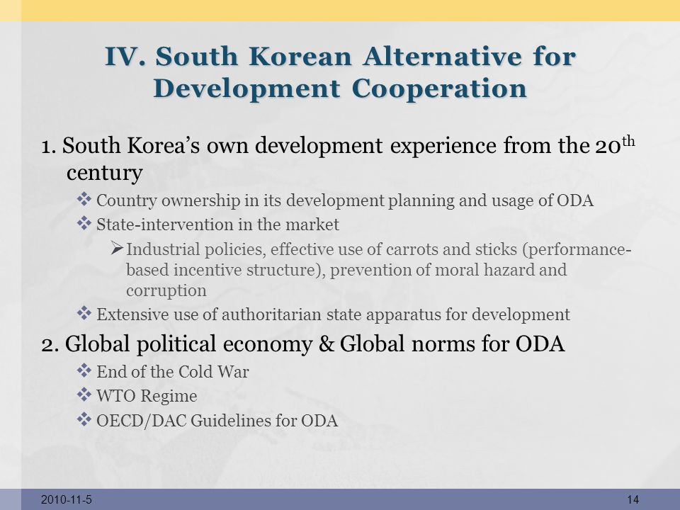 IV. South Korean Alternative for Development Cooperation