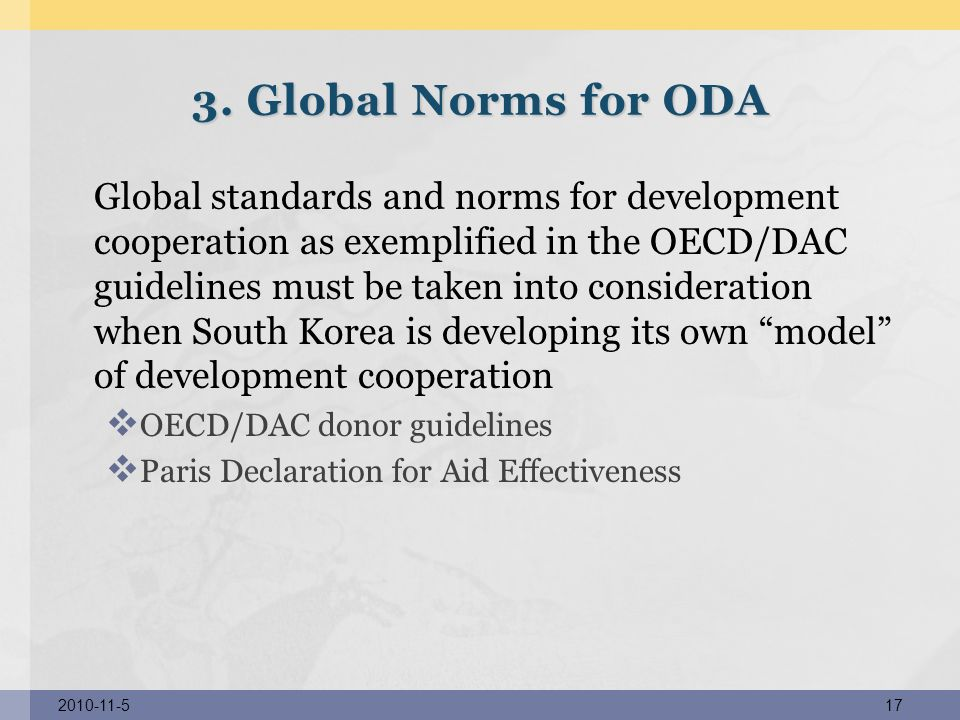 3. Global Norms for ODA