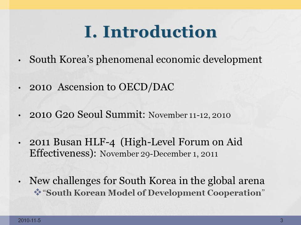 I. Introduction South Korea's phenomenal economic development
