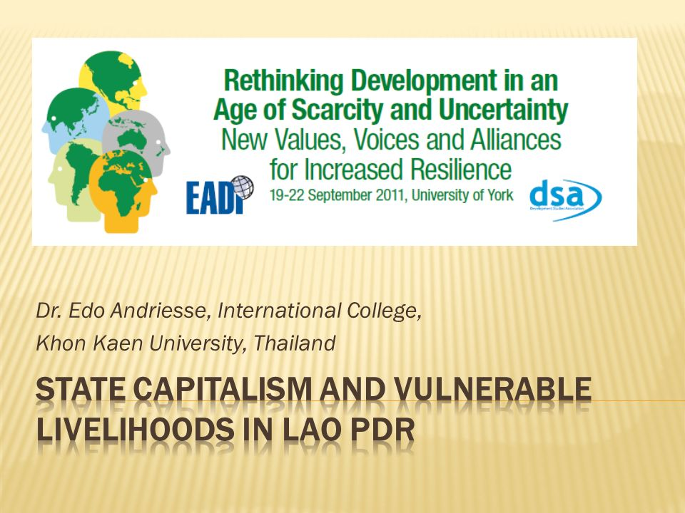 State Capitalism and vulnerable livelihoods in Lao PDR