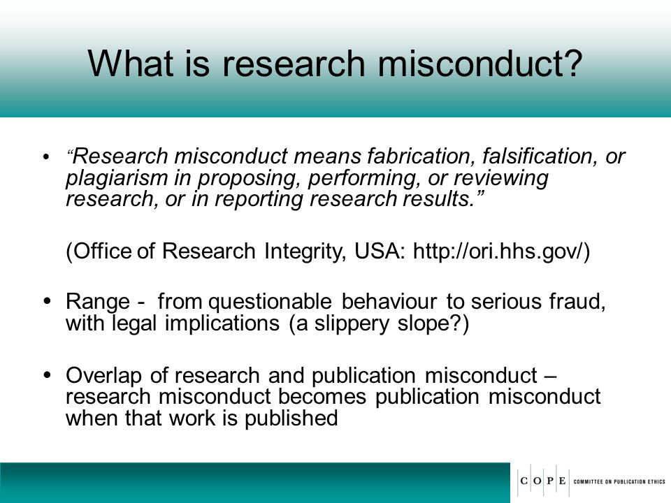 What is research misconduct