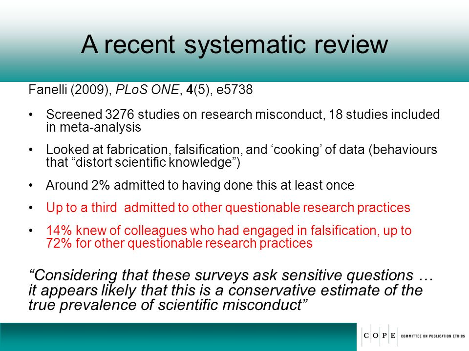 A recent systematic review