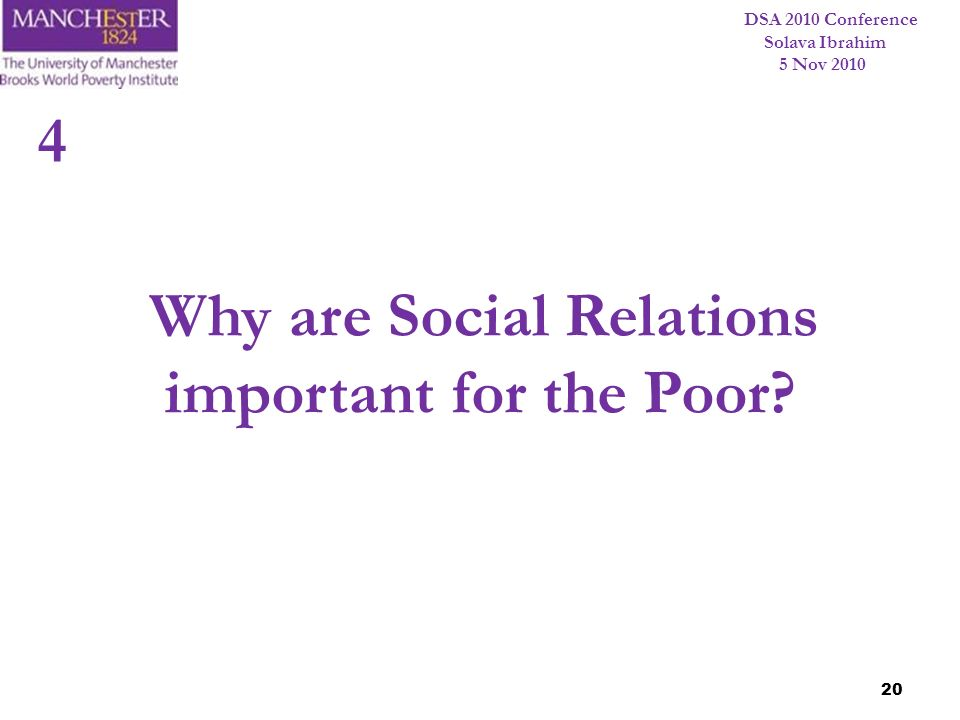Why are Social Relations important for the Poor