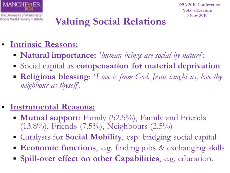 Valuing Social Relations
