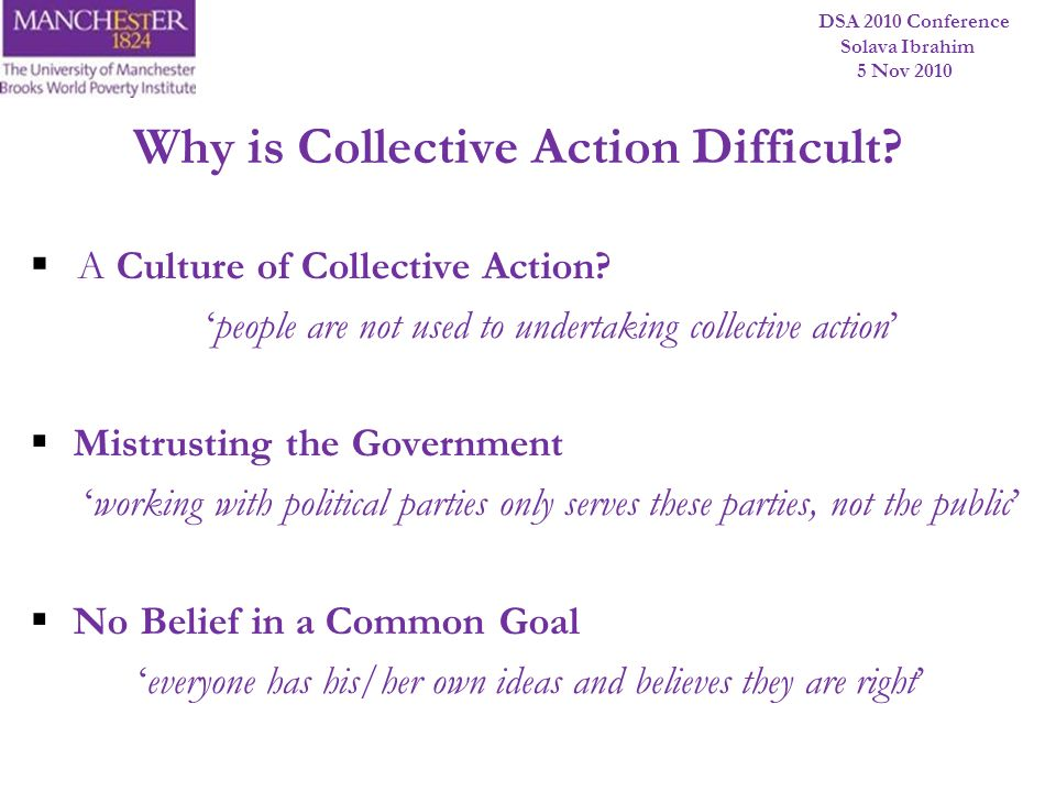 Why is Collective Action Difficult