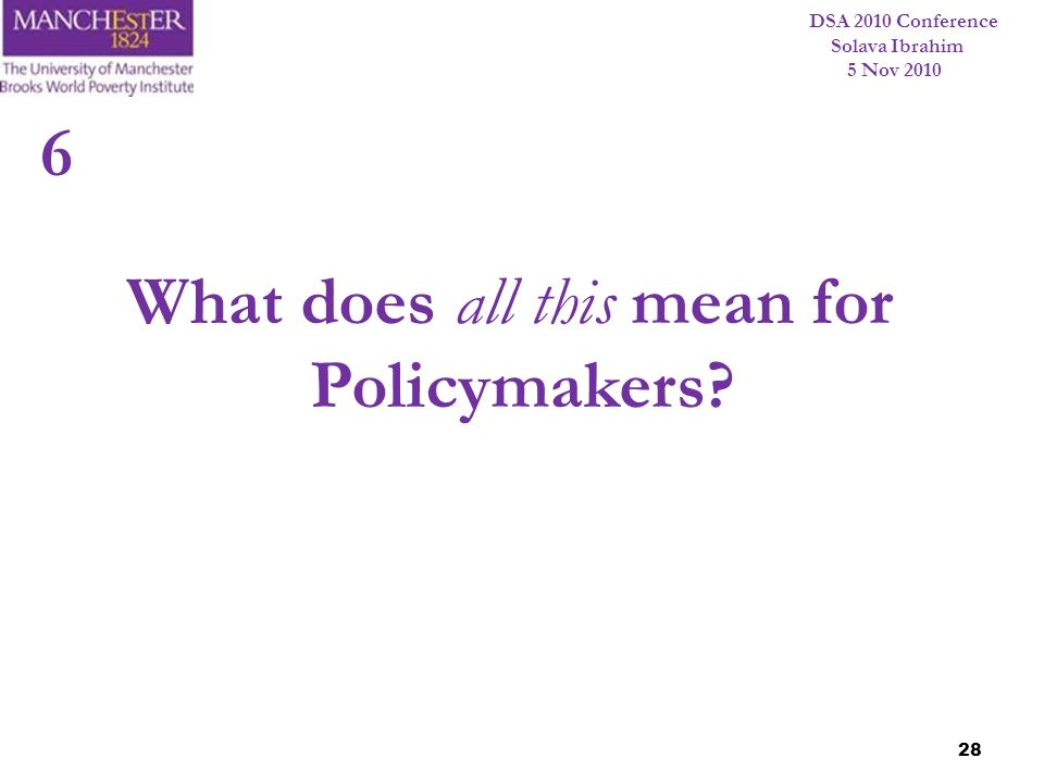 What does all this mean for Policymakers
