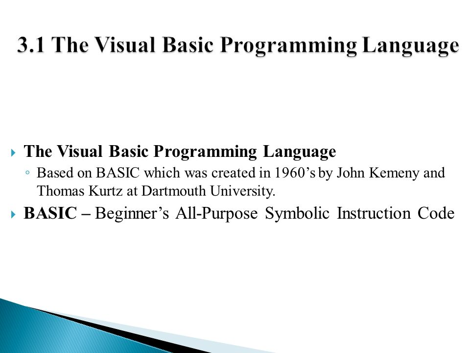 3 basic programming languages Programming languages, part a from university of washington this course is an introduction to the basic concepts of programming languages, with a strong emphasis on functional programming.