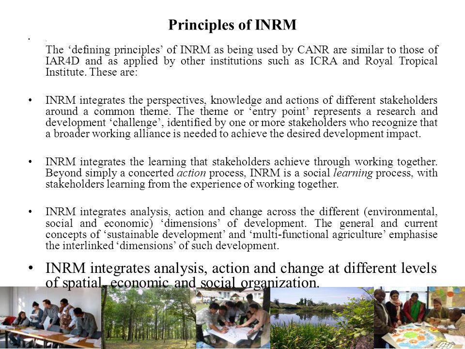 Principles of INRM .
