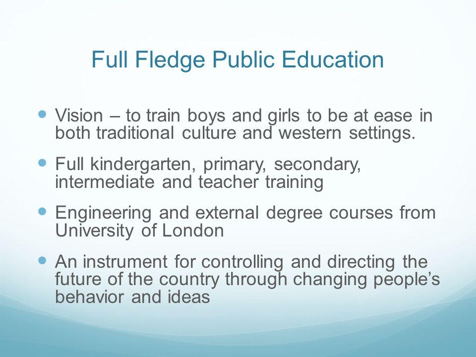 Full Fledge Public Education