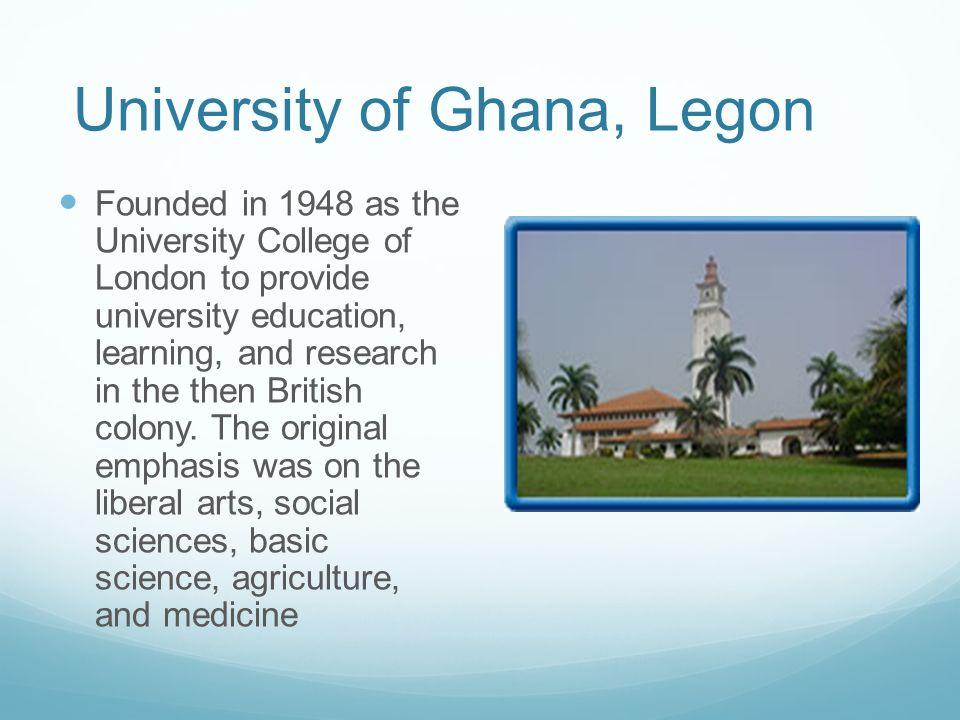 University of Ghana, Legon