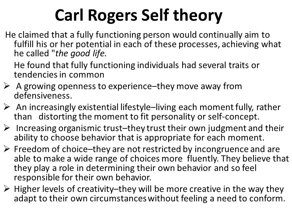 compare bowlby and carl rogers theory of personality development Humanistic personality theories definition & rogers' theory unique pattern of thoughts, feelings, and compare and contrast freud's theory, carl.