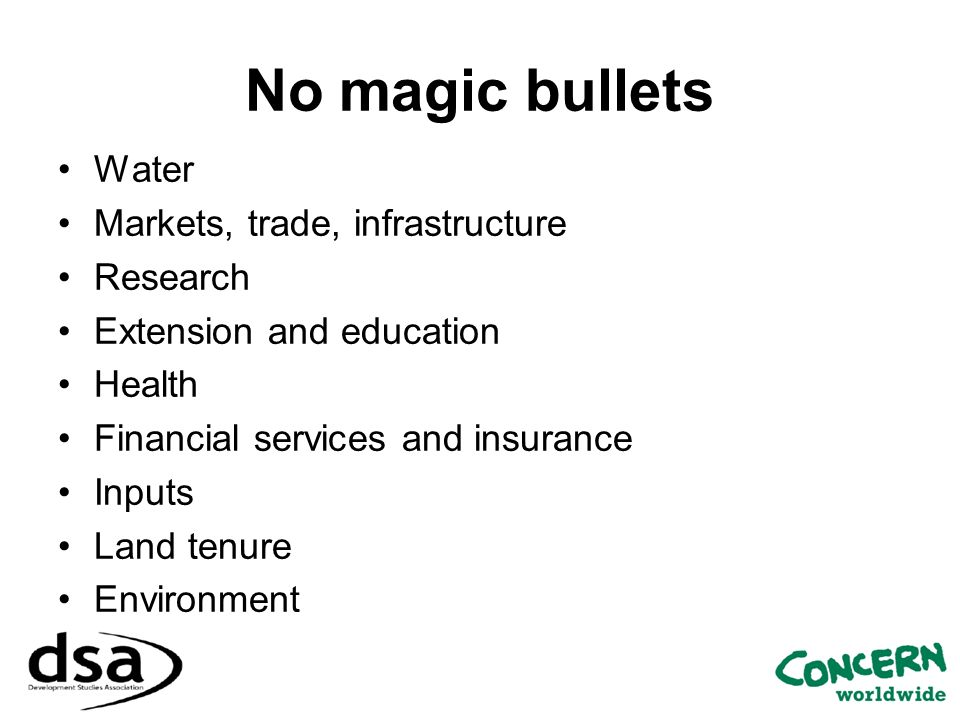 No magic bullets Water Markets, trade, infrastructure Research