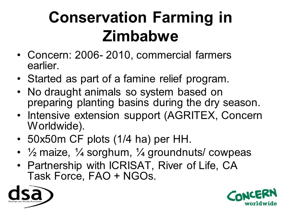 Conservation Farming in Zimbabwe
