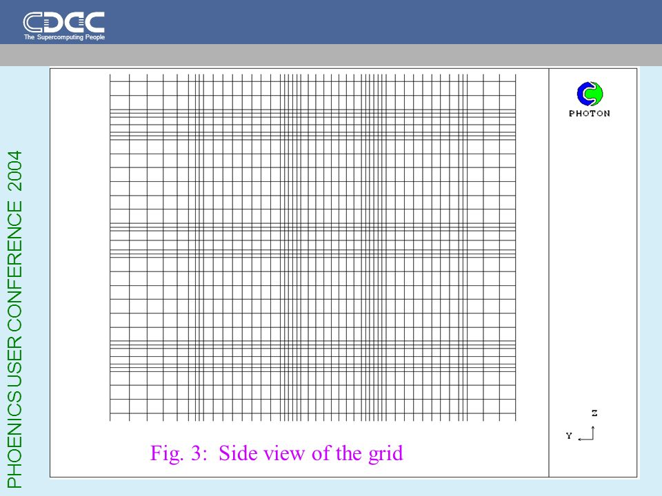 Fig. 3: Side view of the grid