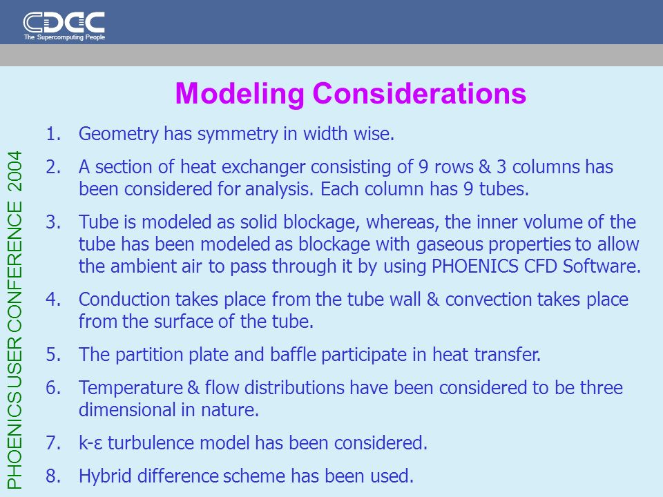 Modeling Considerations