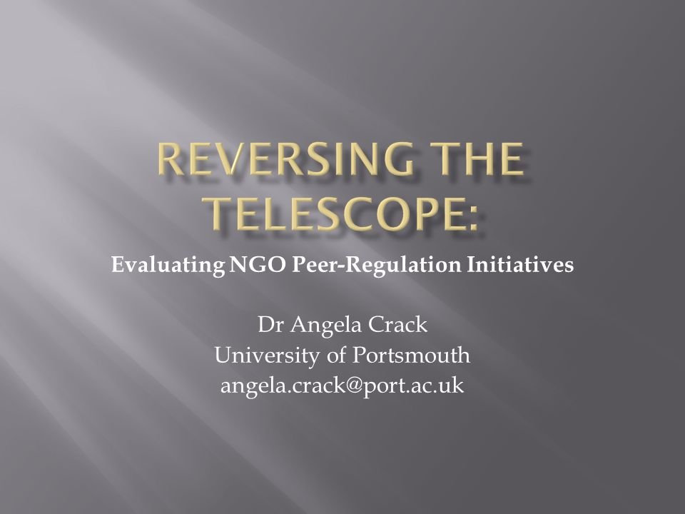 Reversing the telescope: