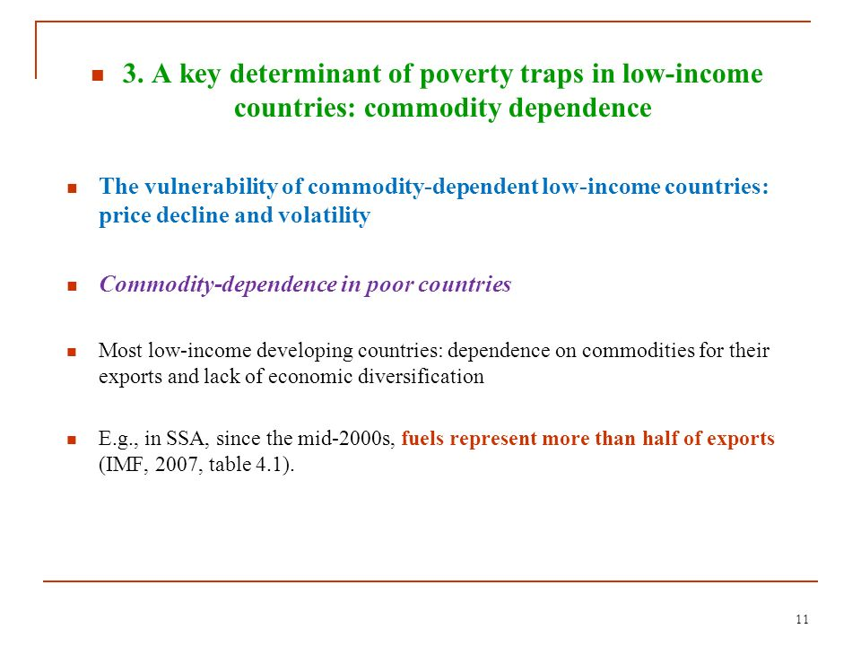 3. A key determinant of poverty traps in low-income countries: commodity dependence
