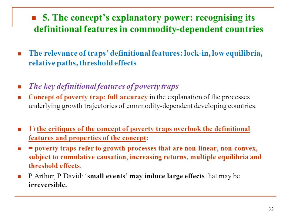 5. The concept's explanatory power: recognising its definitional features in commodity-dependent countries