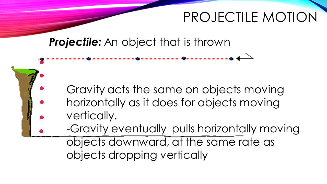 Projectile Motion Projectile: An object that is thrown